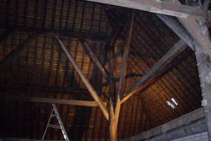 Voortgang behandeling van het hout bij houtwormbestrijding