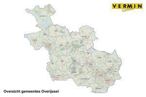 Overzicht gemeentes Overijssel waar Vermin Control Ongediertebestrijding werkzaam is.